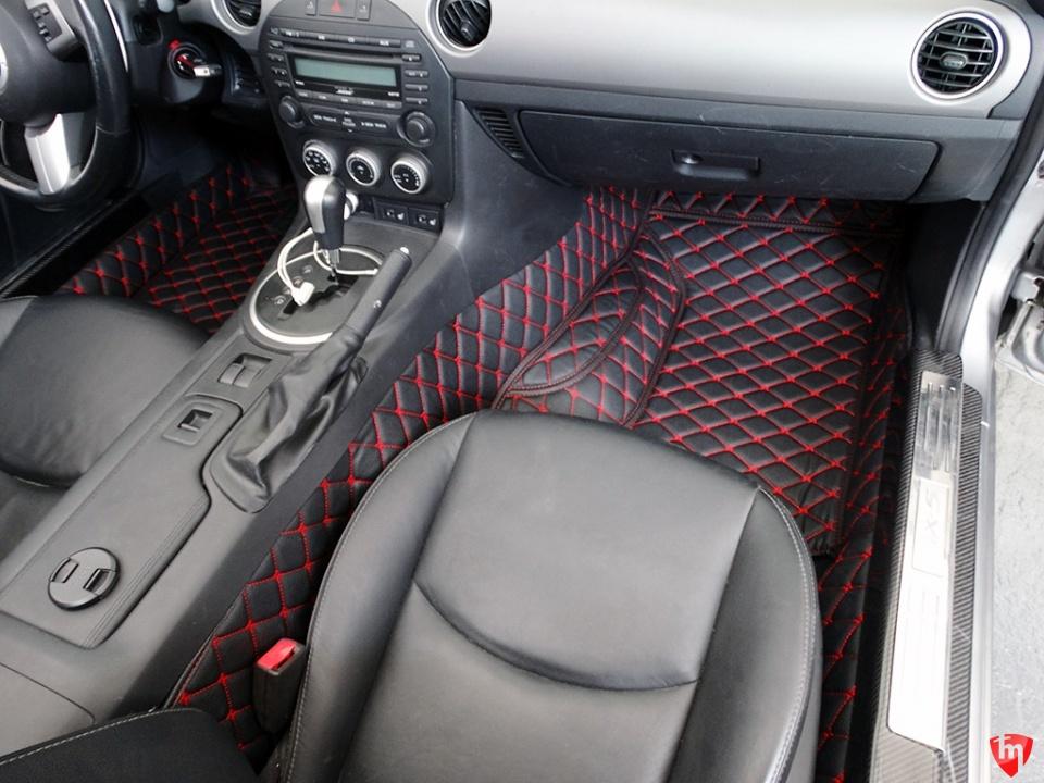 Carbonmiata Floor Mats Quilted For Nc Mazda Miata Mx 5