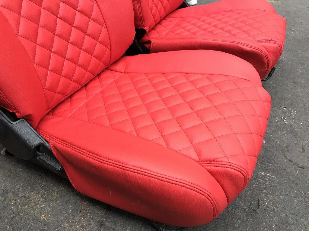 Carbonmiata Quilted Seat Covers For Na Set Of 2 Mazda